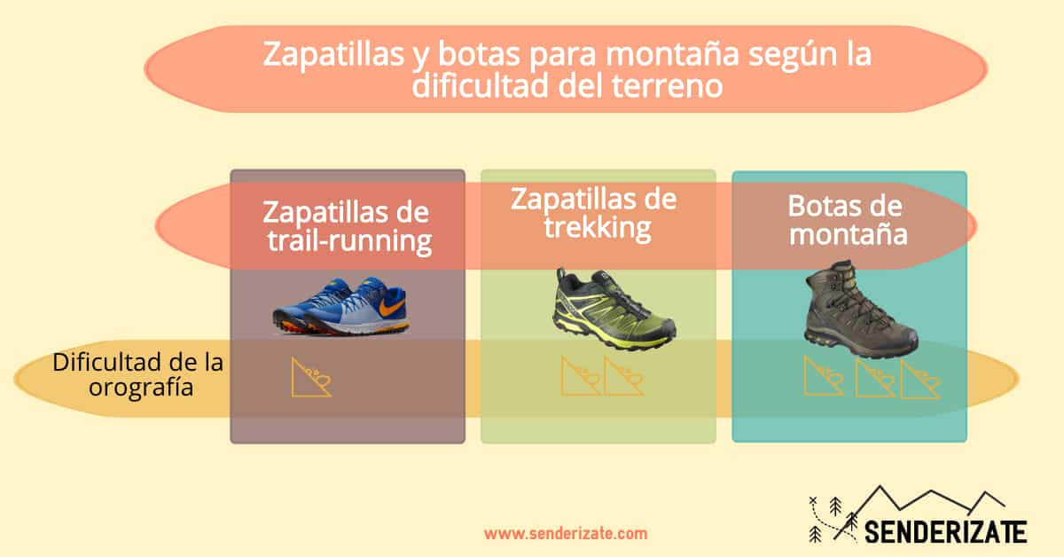 zapatillas de trekking terreno escarpado